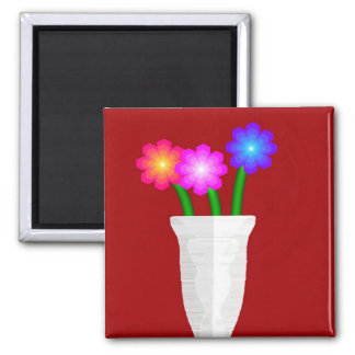 Paper Flowers Magnet