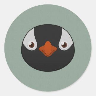 Paper Gentoo Penguin Classic Round Sticker