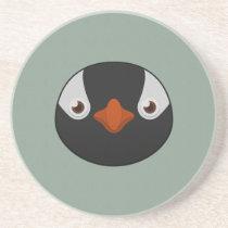 Paper Gentoo Penguin Sandstone Coaster