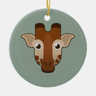 Paper Giraffe Ceramic Ornament