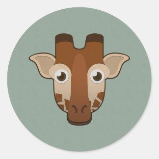 Paper Giraffe Classic Round Sticker