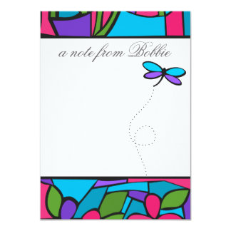 """Paper Glass Dragonfly 4.5"""" X 6.25"""" Invitation Card"""