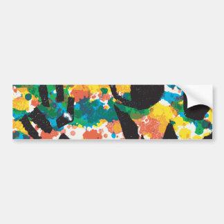 Paper Graffiti Peace Out Skull Bumper Sticker