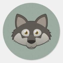 Paper Gray Wolf Sticker Sheet