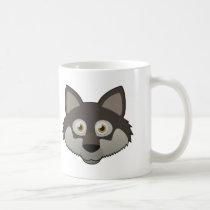 Paper Gray Wolf Mug