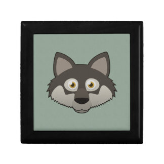 Paper Gray Wolf Keepsake Box