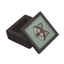 Paper Gray Wolf Magnetic Gift Box