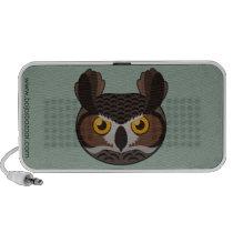 Paper Great Horned Owl Doodle Speaker