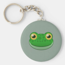 Paper Green Frog Keychain