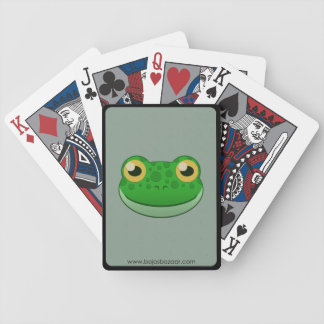 Paper Green Frog Bicycle Playing Cards