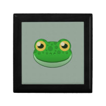 Paper Green Frog Hinged Gift Box