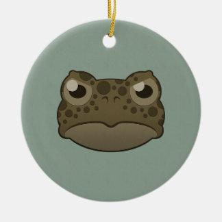 Paper Green Toad Ceramic Ornament