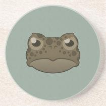 Paper Green Toad Sandstone Coaster