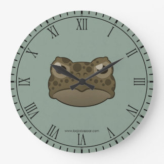 Paper Green Toad Large Clock