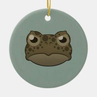 Paper Green Toad Christmas Ornaments