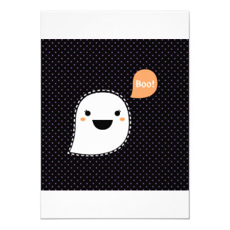 Paper greeting with Boo ghost edition Card
