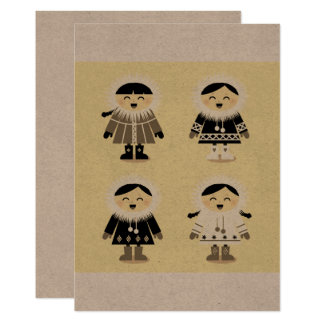 Paper Greeting with Eskimos Card