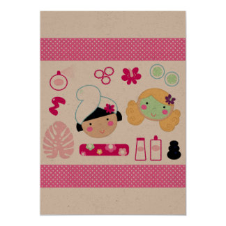 Paper greeting with Wellness girls Card
