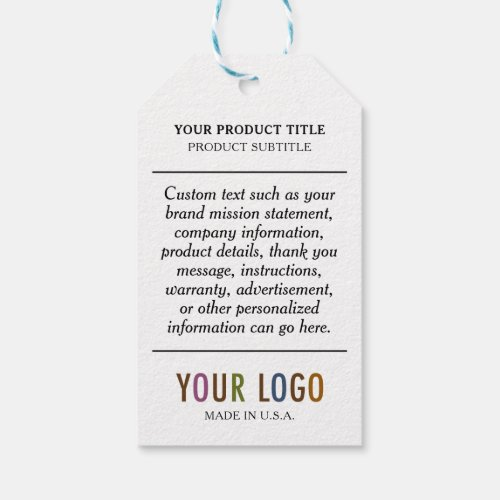 Paper Hang Tags with String  Custom Company Logo