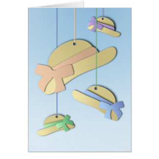 Paper Hats Greeting Card