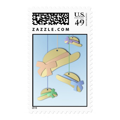 Paper Hats Postage Stamp