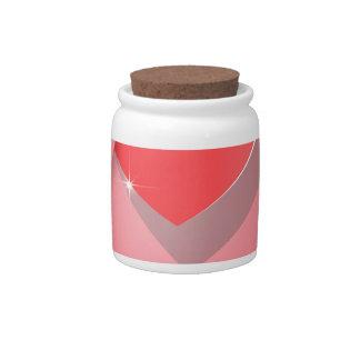 Paper Heart Candy Jar