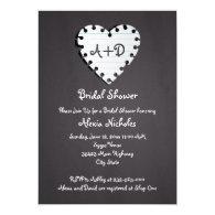 Paper heart on chalkboard wedding bridal shower 5