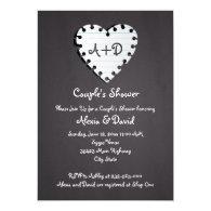 Paper heart on chalkboard wedding couples shower 5