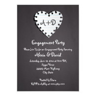 Paper heart on chalkboard wedding engagement party 5