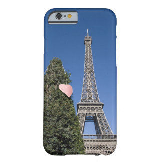 paper heart tied to a tree with the Eiffel tower Barely There iPhone 6 Case