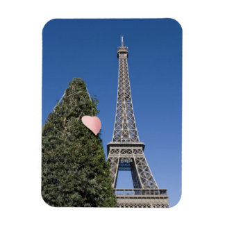 paper heart tied to a tree with the Eiffel tower Magnet