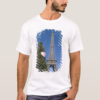paper heart tied to a tree with the Eiffel tower T-Shirt