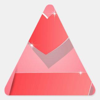 Paper Heart Triangle Sticker