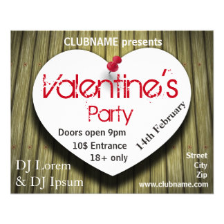 Paper Heart - Valentine's Day Party Flyer