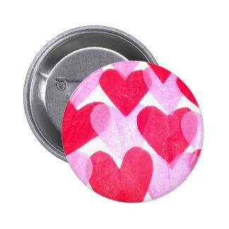 Paper Hearts Button