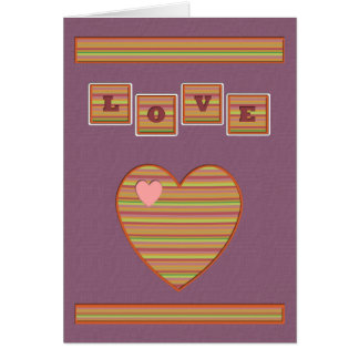 Paper Hearts Greeting Card (