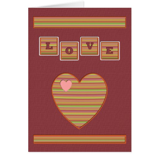 Paper Hearts Greeting Card (Rose)