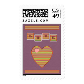 Paper Hearts Postage Stamp (Purple)