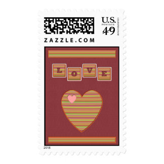 Paper Hearts Postage Stamp (Rose)