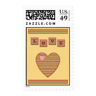 Paper Hearts Postage Stamp (Yellow)