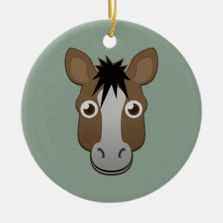 Paper Horse Ceramic Ornament