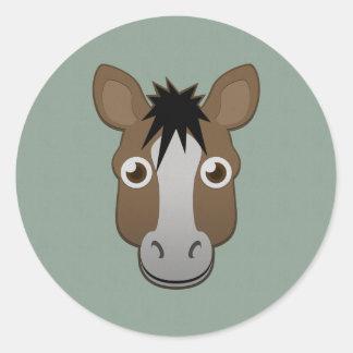 Paper Horse Classic Round Sticker