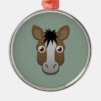Paper Horse Metal Ornament