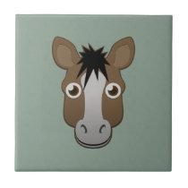 Paper Horse Ceramic Tile