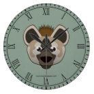 Paper Hyena Wallclock