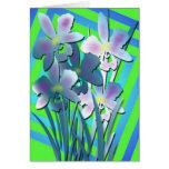 paper irises card