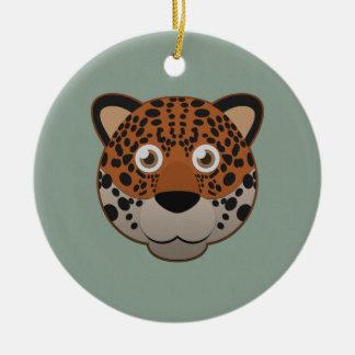 Paper Jaguar Ceramic Ornament