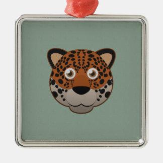 Paper Jaguar Metal Ornament
