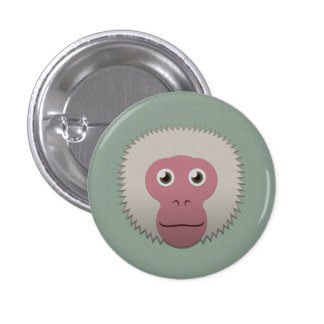 Paper Japanese Macaque Pin