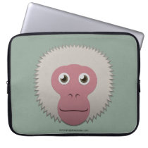Paper Japanese Macaque Laptop Sleeve